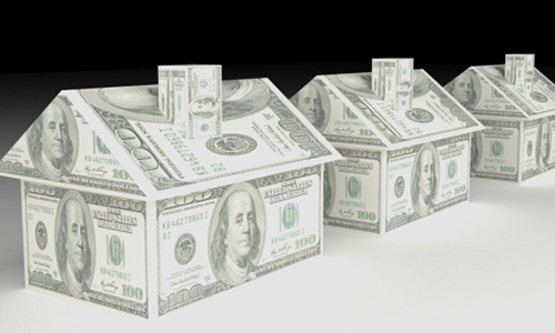 Real Estate Finance house made from dollars made in3d software